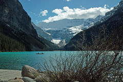 Lake Louise Banff nationalpark, Alberta, Kanada. Royaltyfri Bild
