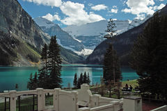 Lake Louise Banff nationalpark, Alberta, Kanada. Royaltyfri Foto