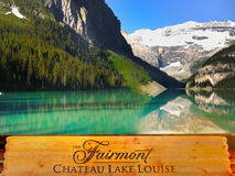 Lake Louise Banff nationalpark, Kanada Arkivbilder