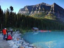 Lake Louise, Banff NP, Alberta, Canadá Imagem de Stock Royalty Free