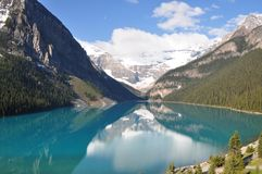 Lake Louise, Canada. A view of Lake Louise in Canada Stock Photo