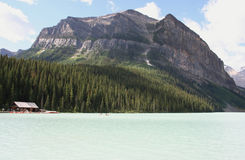 Lake Louise Canada. Beautiful Lake Louise in the Canadian Rockies, Banff National Park Royalty Free Stock Photography