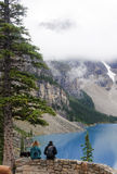 LAKE LOUISE, CANADA - SEPTEMBER 4, 2016: Moraine Lake is located Royalty Free Stock Photo