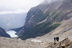 LAKE LOUISE, CANADA - SEPTEMBER 6, 2016: The trail to the Plain Royalty Free Stock Photography