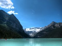 Lake Louise, Canada. A shot of Lake Louise in Alberta, Canada Royalty Free Stock Photos