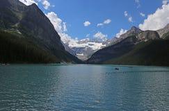 Lake Louise Canoers Stock Photos