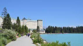 Lake Louise - Chateau Lake Louise Arkivbilder