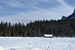 Lake Louise congelado foto de archivo libre de regalías