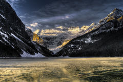 Lake Louise at Daybreak Stock Image