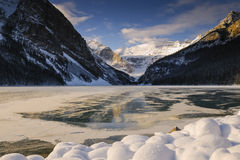 Lake Louise at Daybreak Stock Photos
