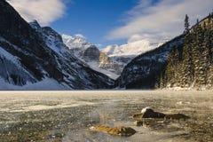 Lake Louise at Daybreak Royalty Free Stock Images