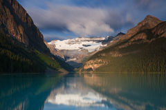 Lake Louise in the early morning light Stock Photography