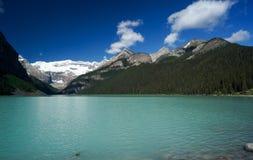 Lake Louise en el parque nacional de Banff Foto de archivo