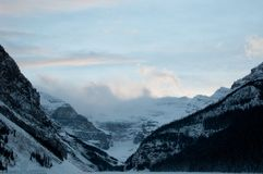 Lake Louise en hiver Photos libres de droits