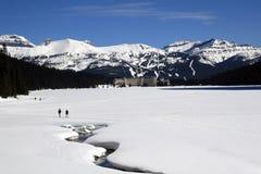 Lake Louise en invierno Imagen de archivo