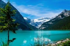 Lake Louise en stationnement national de Banff Images stock