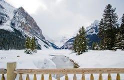 Lake louise. Entrance to Lake Louise, Alberta Royalty Free Stock Images