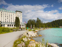 Lake Louise, Fairmont Chateau Hotel Stock Images