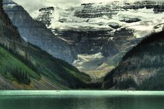 Lake Louise Glacier Canada Stock Image