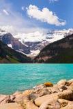 Lake Louise i den Banff nationalparken, Alberta, Kanada arkivbilder