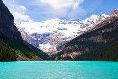 Lake Louise i den Banff nationalparken, Alberta, Kanada arkivbild
