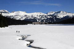 Lake Louise im Winter Stockbild