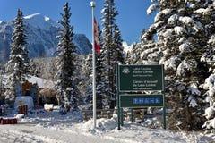 Lake Louise im Winter Stockfoto