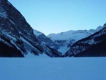 Lake Louise in inverno Immagine Stock Libera da Diritti