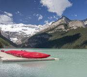 Lake Louise Kayaks Stock Image