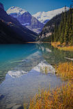 Lake Louise. Mountain reflection in Lake Louise, Canada Royalty Free Stock Photography