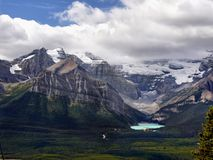 Lake Louise Mountains, Banff National Park, Canada Royalty Free Stock Photos