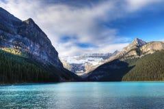 Lake Louise nära Banff, Alberta Arkivfoto