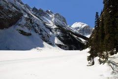 Lake Louise nel winer fotografia stock