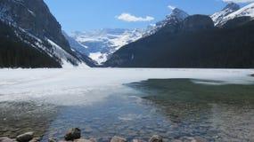 Lake Louise nella primavera, Alberta Immagine Stock