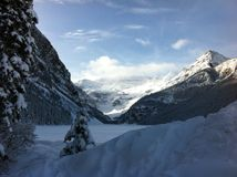 Lake Louise no parque nacional de Banff fotos de stock royalty free