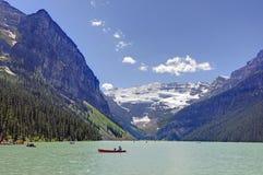 Lake Louise på den Banff nationalparken Royaltyfri Fotografi