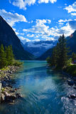 Lake Louise in parco nazionale Banff Alberta Canada Fotografie Stock