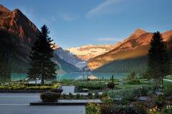 Lake Louise, parque nacional de Banff Fotos de archivo
