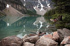 Lake Louise Reflection Stock Image