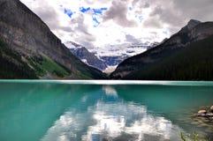 Lake Louise reflexioner Arkivbilder