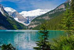 Lake louise shoreline Stock Photo