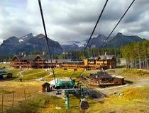Lake Louise Ski Resort, Gondola View, Banff National Park, Canada stock photo