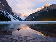 Lake Louise Sunrise Royalty Free Stock Images
