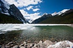 Lake Louise Thaw Stock Photos