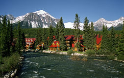 Lake Louise village. Banff National Park, Alberta, Canada royalty free stock photography