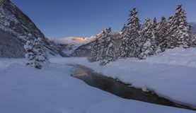 Lake Louise vinter Arkivbilder