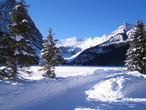 Lake Louise in winter. Canadian Rockies, Alberta Stock Photos