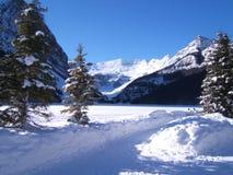 Lake Louise in winter Stock Photos