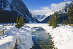 Lake Louise in Winter Royalty Free Stock Photo