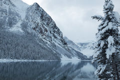 Lake Louise in Winter. One of the most scenic locations in all of Canada, Lake Louise, Alberta, is particularly scenic in wintertime stock image
